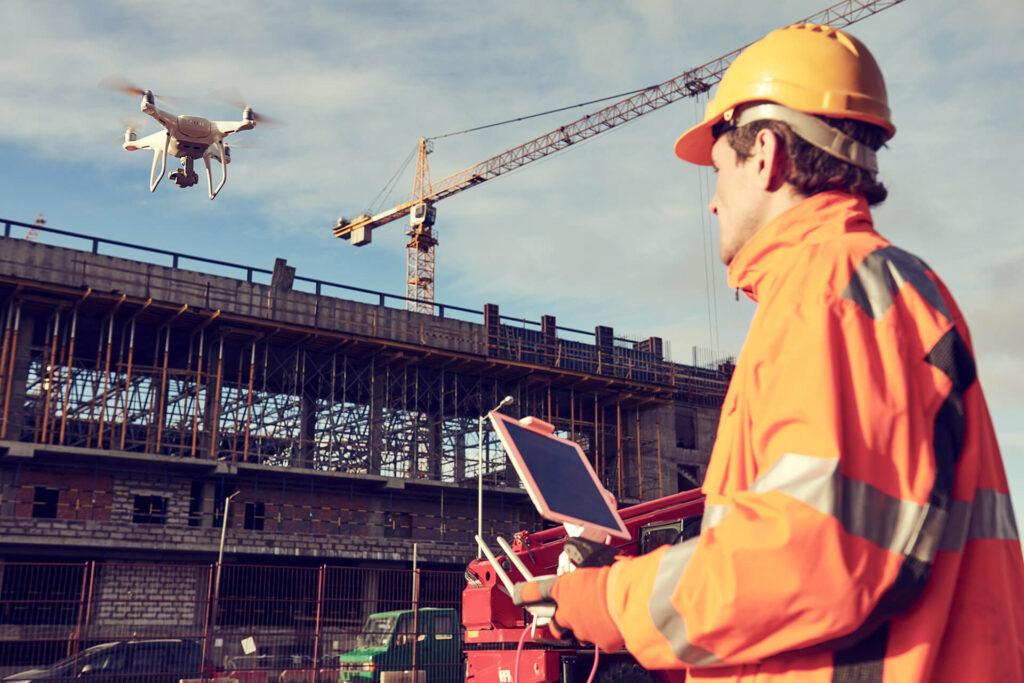 drones en la construcción ingeodrone