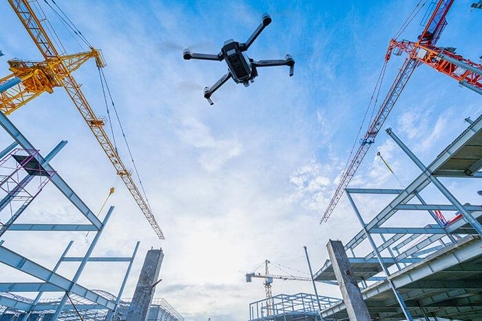 seguimiento de obras con drone madrid