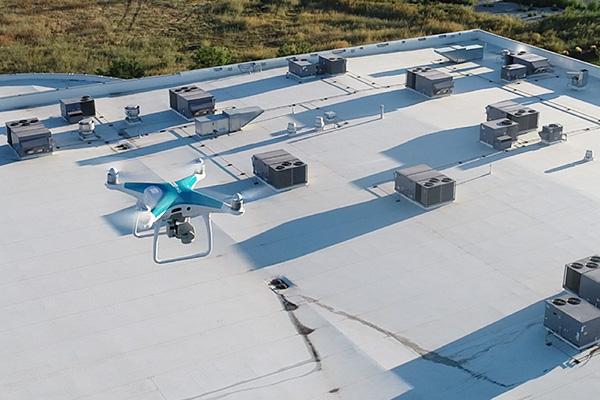 inspección de cubiertas con drones en madrid