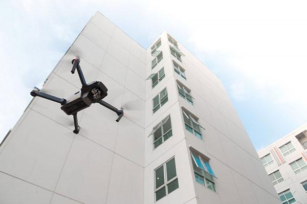 inspección de fachadas con drones en madrid