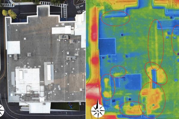 inspección de eficiencia energética con drones